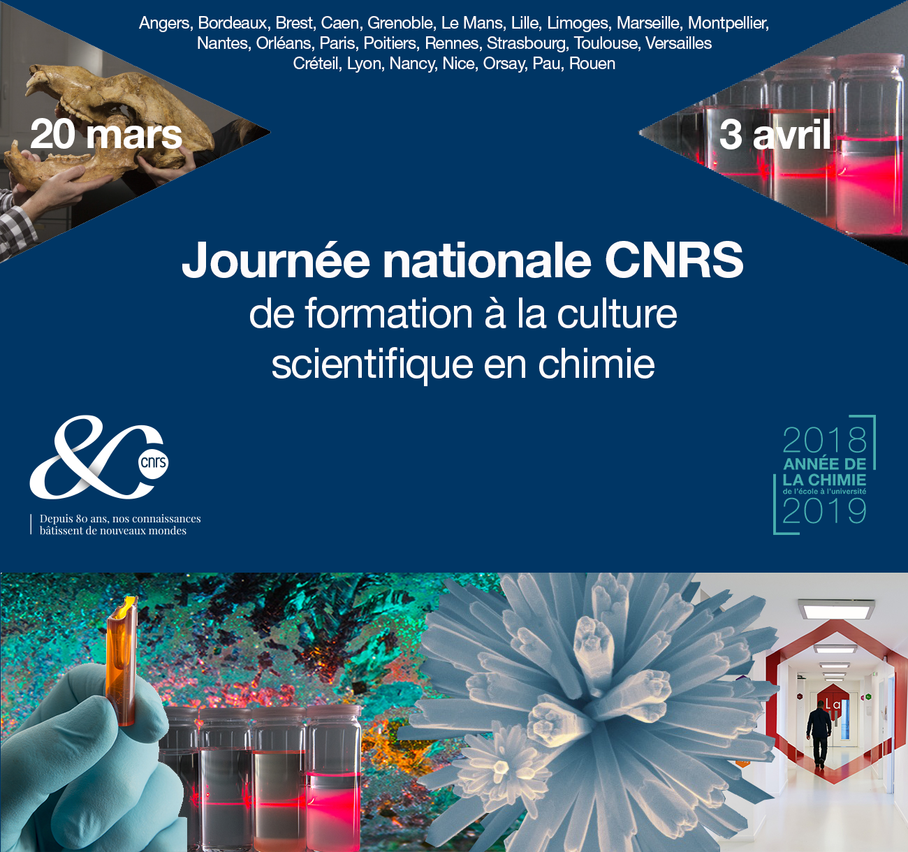 Journées nationales de formation à la culture scientifique en chimie à Bordeaux